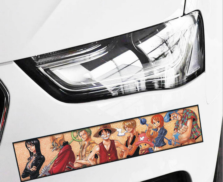 2pcs lot Cartoon ONE PIECE car Body window stickers Cover the scratch sticker Styling for Toyota