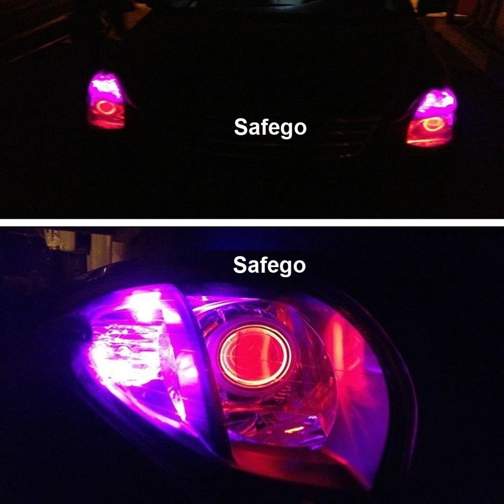 Safego 10pcs T10 led bulb 5 SMD 5050 LED T10 W5W 194 168 Car Light Source lamp 5 led dash indicator signal side wedge tail light