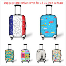 Thick Elastic Luggage Protective Covers with Zipper for 18 20 22 24 26 28 30 Inch Case Waterproof Travel Suitcase Rain Cover(China (Mainland))