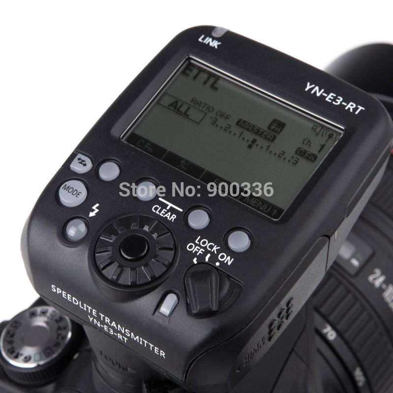 2014 NEW YN-E3-RT Yongnuo Flash Speedlite Transmitter Compatible with 600EX-RT for Canon DSLR Camera(China (Mainland))