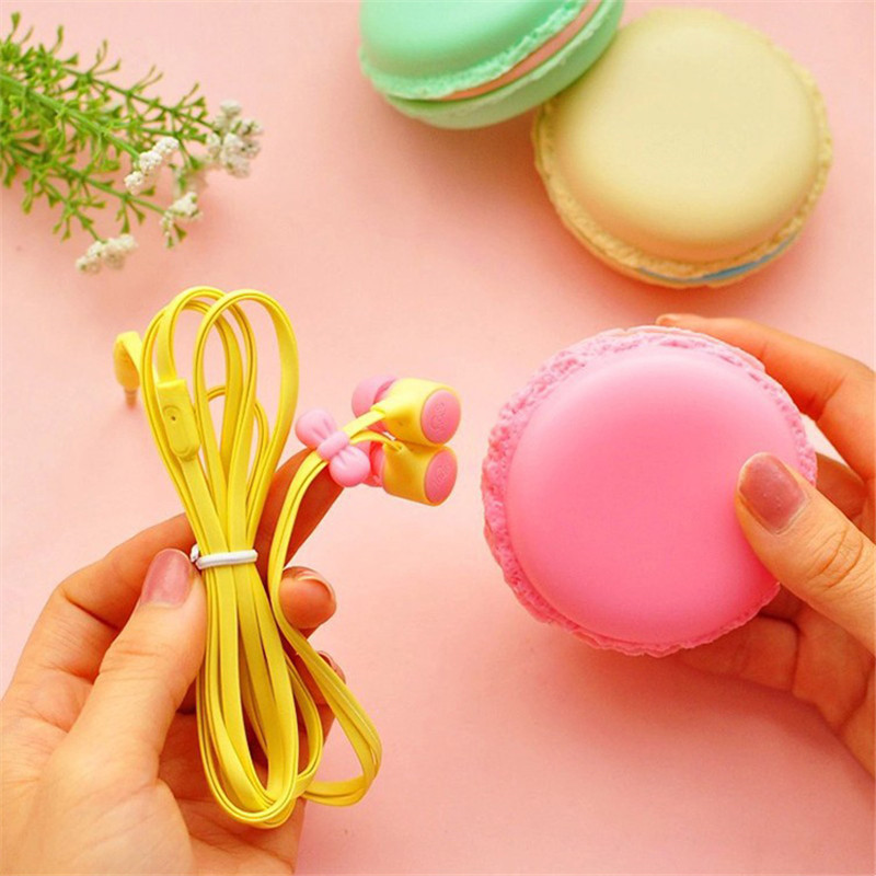 New Macarons Design In-Ear Earphone Stereo Fone De Ouvido Super Bass Auriculares Cute Headphones for Mobile Phone MP3 Player(China (Mainland))
