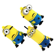 Real capacity Cute cartoon despicable me2 minions usb flash drive pen drive 4gb 8gb 16gb 32gb pendrive usb stick memory stick