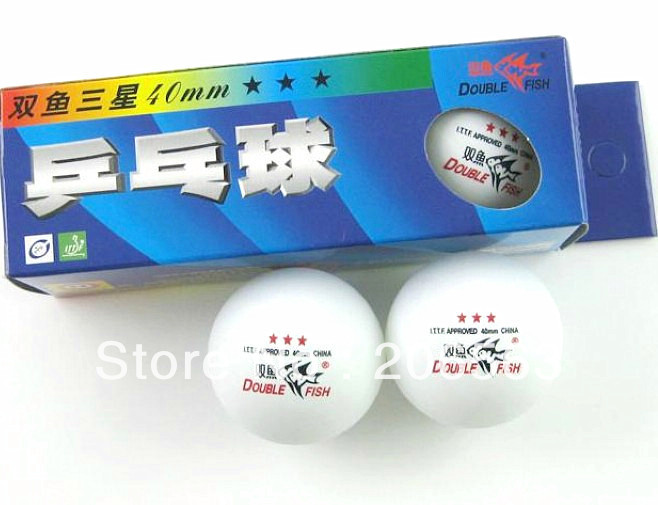 10 Boxes(30 Pcs) Double Fish 3 Stars 40MM Olympic Table Tennis White Ping Pong Balls YB-10 - zhenshuo yu's store