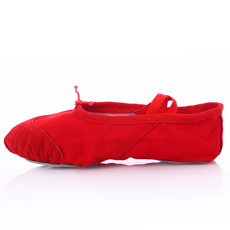 Women's/Men's/Kids' <font><b>Dance</b></font> <font><b>Shoes</b></font> Ballet Canvas Flat Black/Pink/Red/White/Multi-color Children's Athletic <font><b>Shoes</b></font> Free Shipping