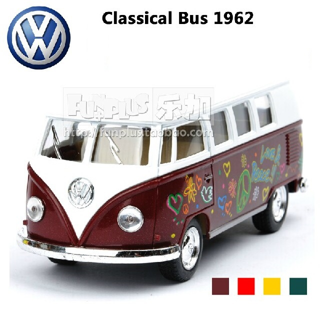 High Simulation Exquisite Model Toys: KiNSMART Car Styling Volkswagen Van Retro Print Little Bus Alloy Bus Model Excellent Gifts(China (Mainland))