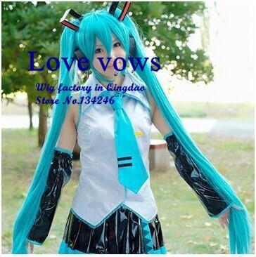 Long Straight Wigs 120cm Light Blue Anime Cosplay Wigs Hatsune Miku free shipping<br><br>Aliexpress