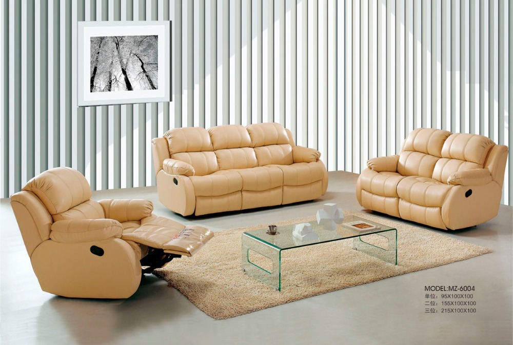 Hotsale leather sofa set recliner sofa set different for Couch sets for sale cheap