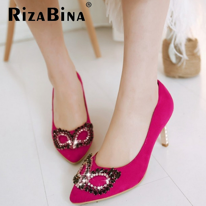 women high heel shoes stiletto crystal pointed toe spring fashion heeled Zapatos Mujer pumps heels shoes size 34-39 P16537<br><br>Aliexpress