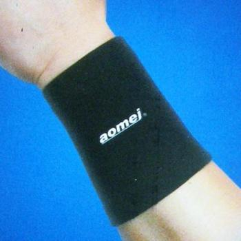 Free Shipping 2x Wrist Support Elastic Breathable Sports Black 8218