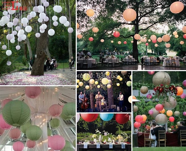 Free shipping 40pcs 8inch 20cm chinese party decor for Lamp decoration ideas