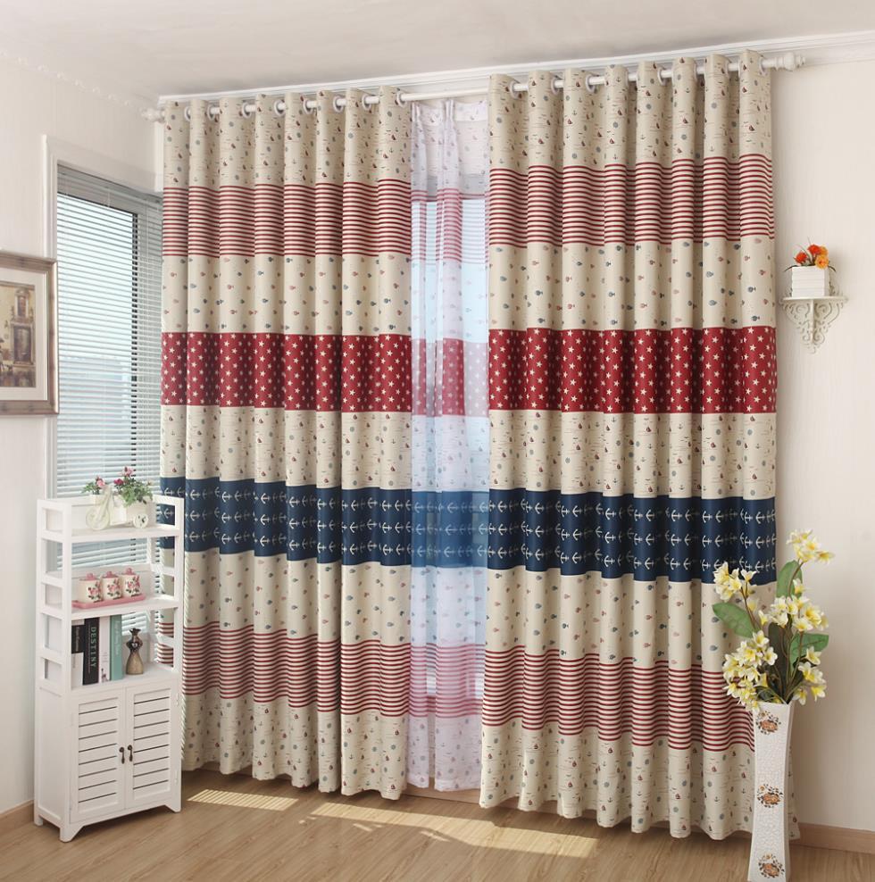 Pastoral estilo americano de vela cortina cortinas para - Cortinas de casa ...