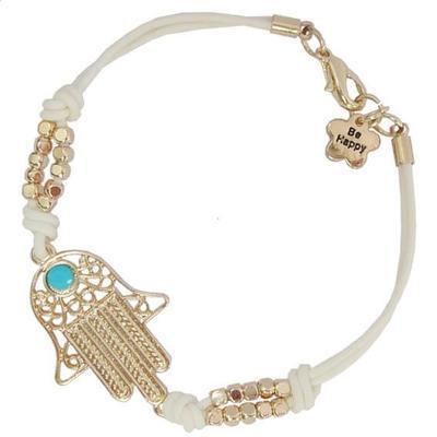 Fashion Alloy Beads Hand of Fatima Finger Hamsa Bracelet for Women Jewelry Wholesale Mens Turquoise Evil Eye Leather Bracelets(China (Mainland))
