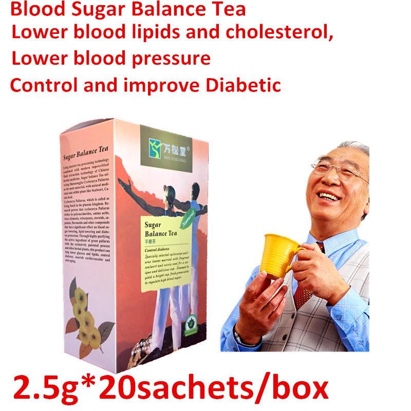 2boxes = 40 sachets balance blood sugar tea control diabetes herbal tea for diabetics 100% natural herbs Soften blood vessels(China (Mainland))