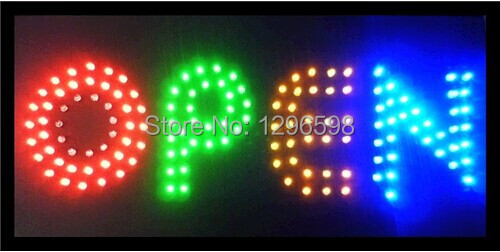 2015 Special Offer Hot Sale Graphics 15mm indoor 15.5X27.5 Inch Business Shop open Led Ultra Bright neon sign(China (Mainland))