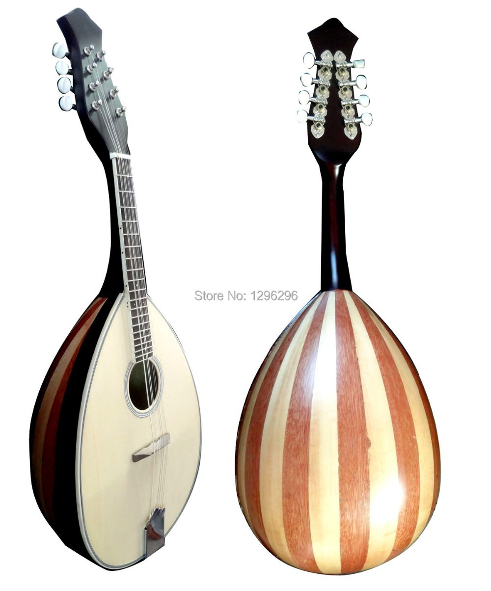 free shipping Alto mandolin guitar+bag 73 cm long Spruce panel: plywood 26.5 * 15 cm Alto mandolin what follows:C G D A 1526(China (Mainland))