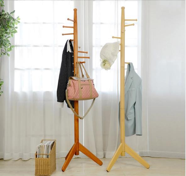 2015 Hot Sale 100% Oak hatrack,Fashion Countryside Wooden coat rack stand 177cm,8 wood hook coat rack,wood living room furniture<br><br>Aliexpress