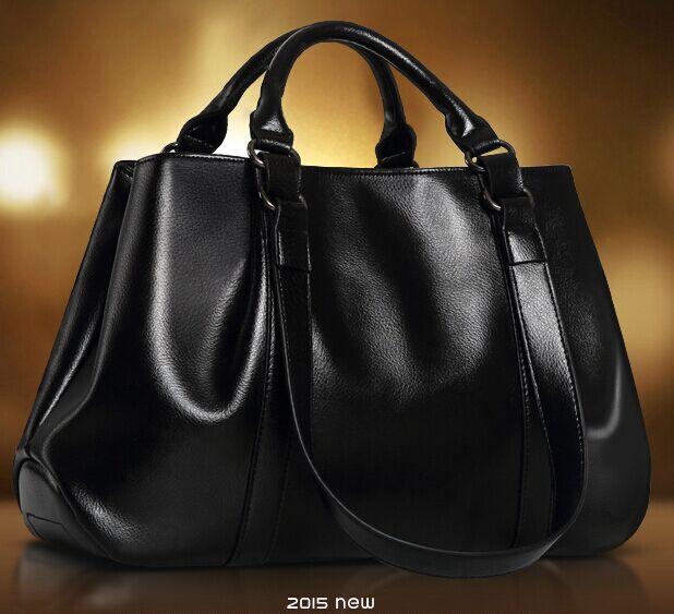 Genuine Leather Bag 2015 New Women Fashion Black tote Shoulder Gandbags Handbags Womens bags - The world honesty shops store