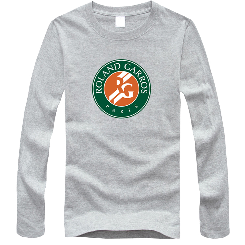 Free shipping Hot Sale Roland Garros French Open Tennis T Shirt Men New Arrival Fashion Brand Long Sleeve T Shirt For Male(China (Mainland))