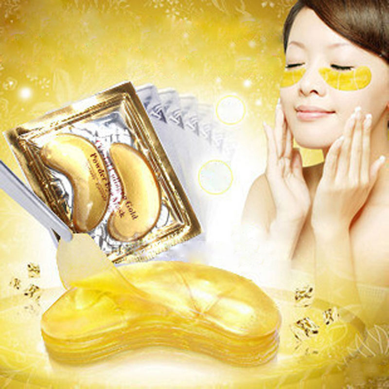 15 Pair High quality Gold Crystal collagen Eye Mask Hotsale eye patches(China (Mainland))