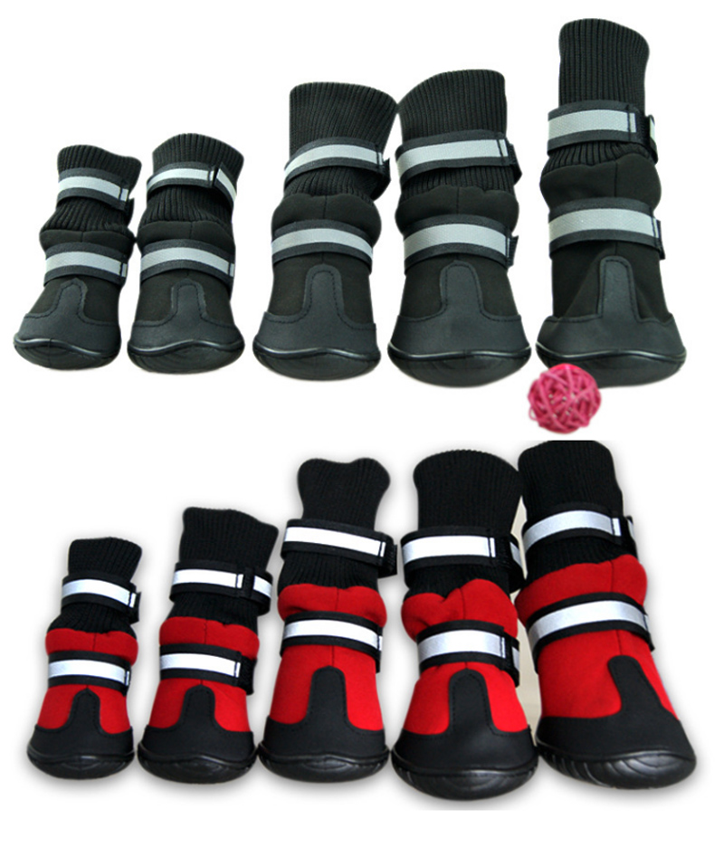 Pet Snow Boots Protective Shoes All Weather Small Large Dog Booties Socks Warm(China (Mainland))