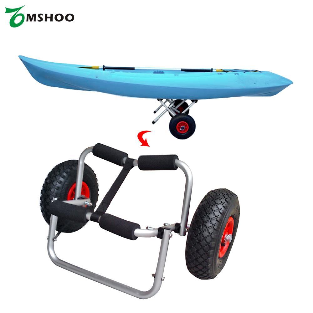 65KG Loading Capacity Foldable Kayak Trolley Carrier Energy-saving Two-wheeled Boat Trolley for Kayak Canoe Boat(China (Mainland))