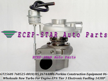 GT2560S 785828 768525-0010 785828-0005 2674A806 2674A812 Turbo For Perkin Construction Equipment EPA Tier 3 Electronic Fuelling