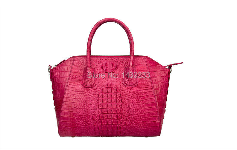 100% genuine crocodile leather handbag 2015 fashion women clutch bag  crocodile leather tote<br>