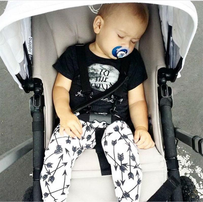 2016 new summer style cotton little monsters short sleeve infant clothes 2 pcs baby font b