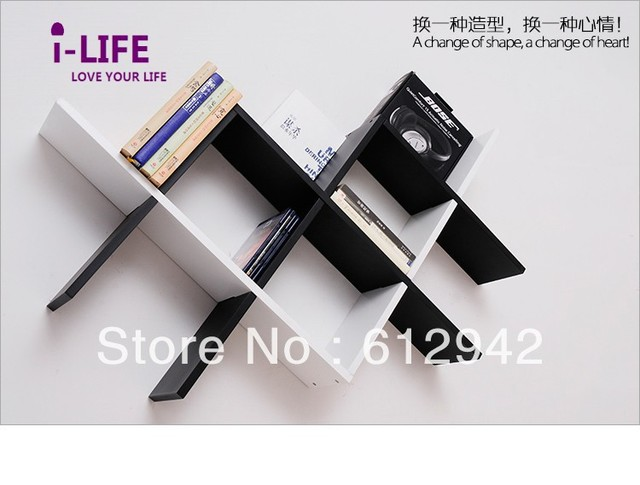 Only Wholesales 100PCS Cross MDF floating wall shelves/shelf wall mount by ocean shipping
