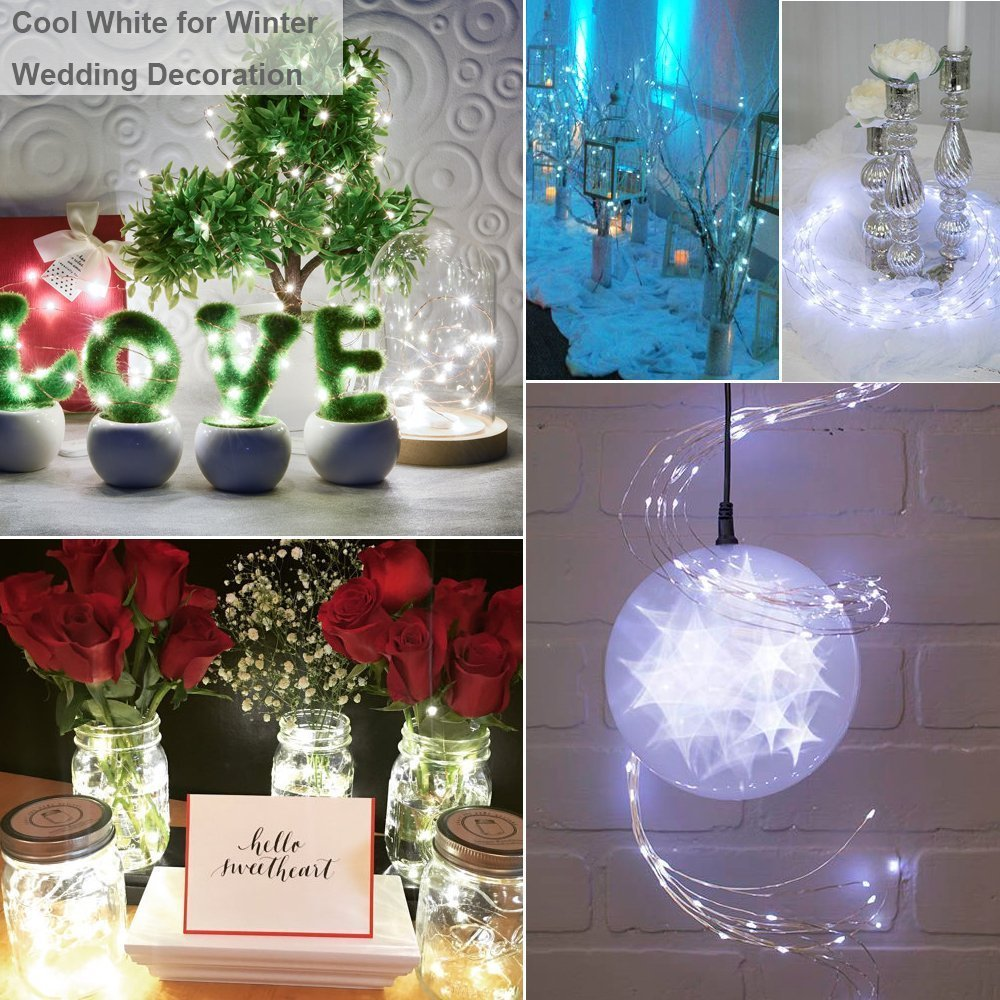 2M 20LEDS Fairy Lights 20 Micro Starry Light CR2032 Button Battery Operated Copper String for Christmas Wedding Decorations