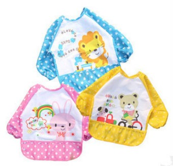 2015 lovely appearance baby dustcoat fashionable design cartoon animal colorful breathable waterproof infant dustcoat(China (Mainland))