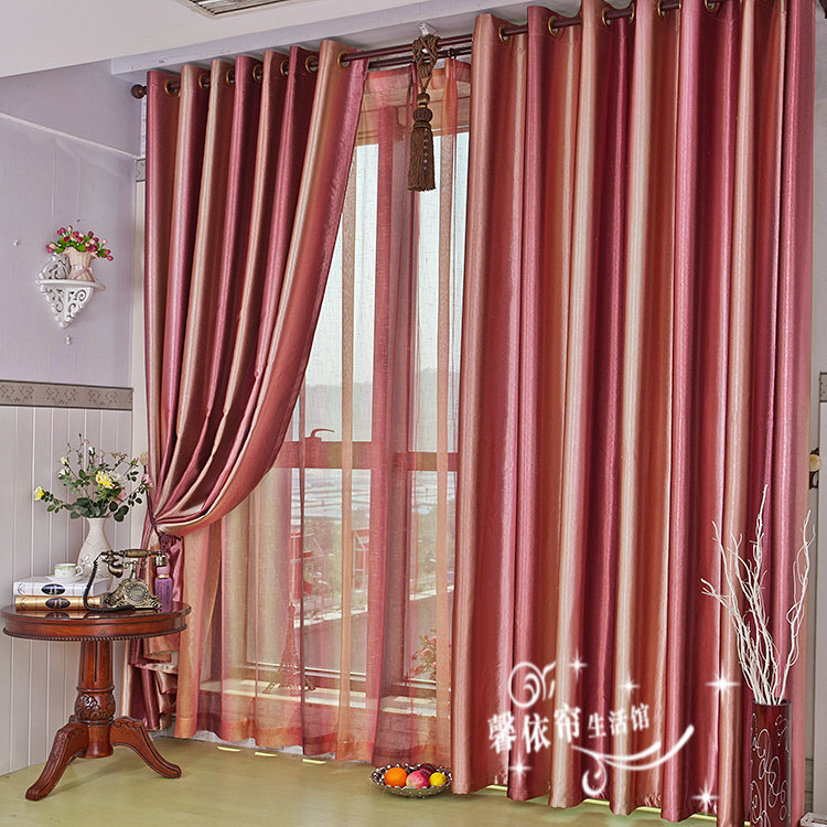 red brown curtains promotion shop for promotional red