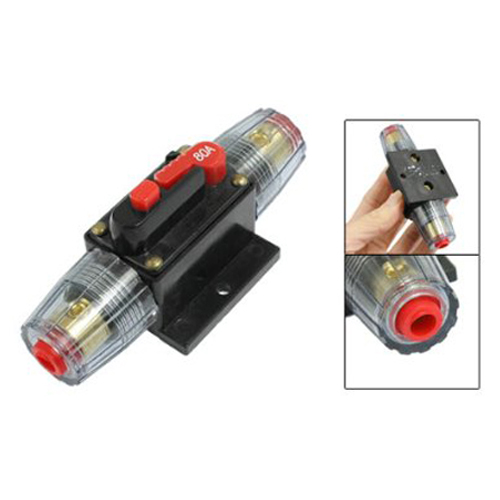 Promotion! DC 12V 80A Car Protection Audio Inline Circuit Breaker Fuse(China (Mainland))