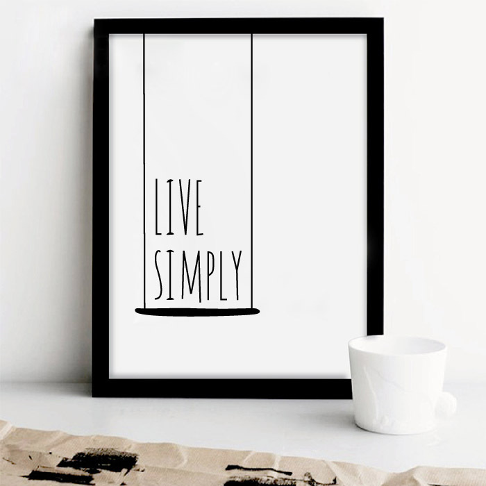 Simple Life Quote Canvas Art Print Painting