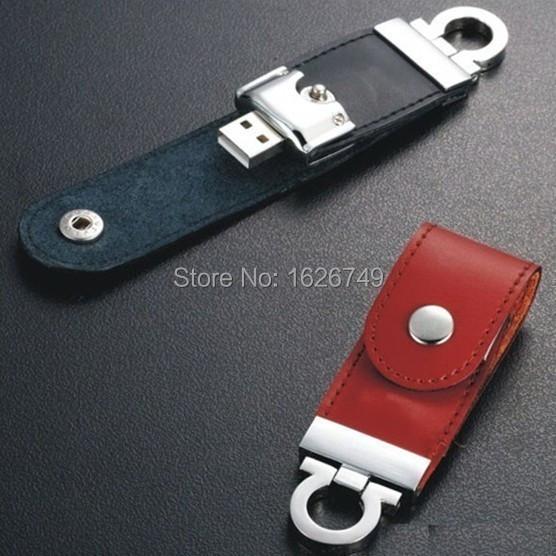 Retail 100% real capacity 2 colors Leather USB Flash Drive 4GB 8GB 16GB 32GB keychain Pendrive 32GB flash Memory stick Pen Drive(China (Mainland))