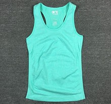 Quick dry women t-shirt anti-sweat breathable lady women sport running fitness a-shirt/t shirts/vest sleeveless summer clothing(China (Mainland))