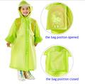 Kids Raincoat EVA Tastless Raincoats Practical Schoolbag Children Rain Coat