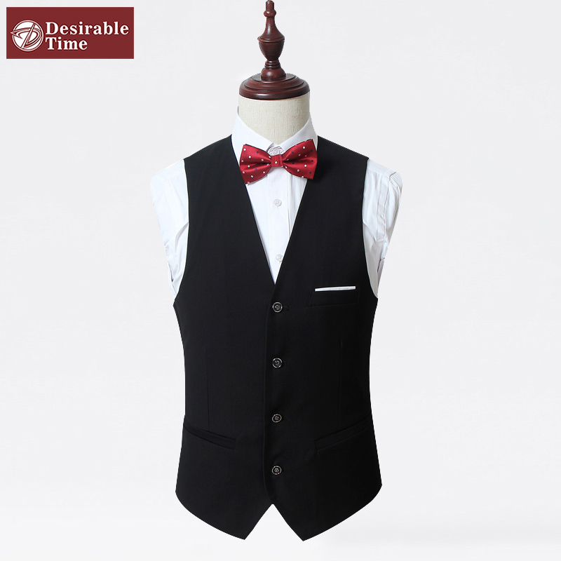 Formal Mens Single Breasted Dress Vests Plus Size M-6XL 2015 Fashion Wedding Men Slim Fit Button Suit Vest XK06