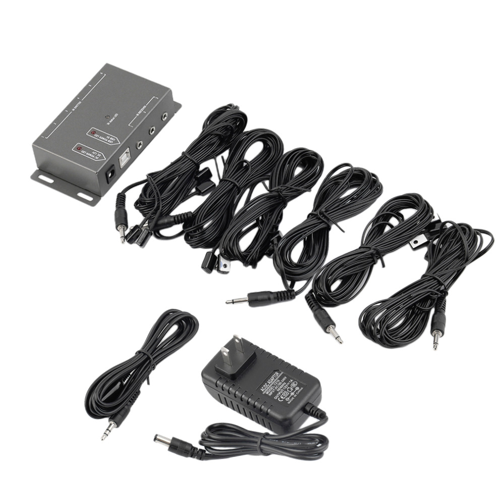 Hot 12 Emitters 1 Receiver Infrared Remote Control Extender IR Repeater Kit Wholesale(China (Mainland))