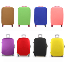 Luggage Cover Protective Suitcase cover Solid Trolley case Travel Luggage Dust Fexible cover for 18-30 INCH(China (Mainland))