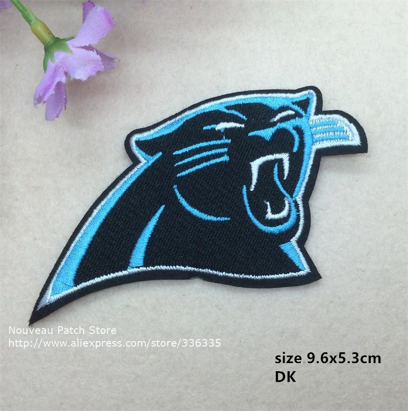10 pcs Sports Team Logo Cat Full embroidered Iron On Patches Quality garment Appliques accessory DK free shipping(China (Mainland))