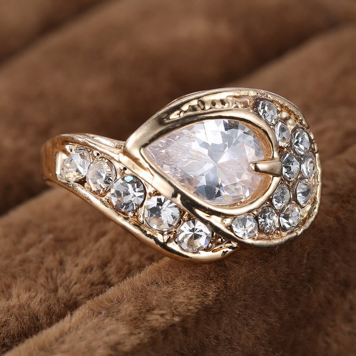 Aliexpress Buy championship ring jewelry white shape of teardrop rhines