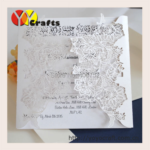 elegant wedding invitation kits laser cut paper handmade party wedding