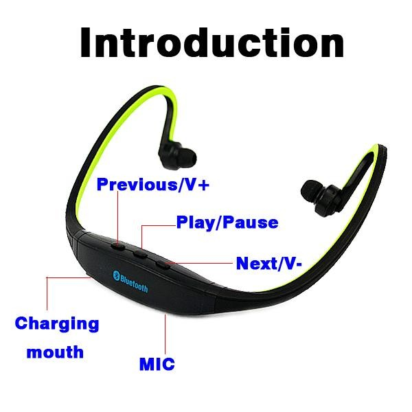 Promotion!! Sport Bluetooth 4.0 Earphone Portable Wireless Stereo Outdoor Running Headphones Headsets Microphone Wholesale
