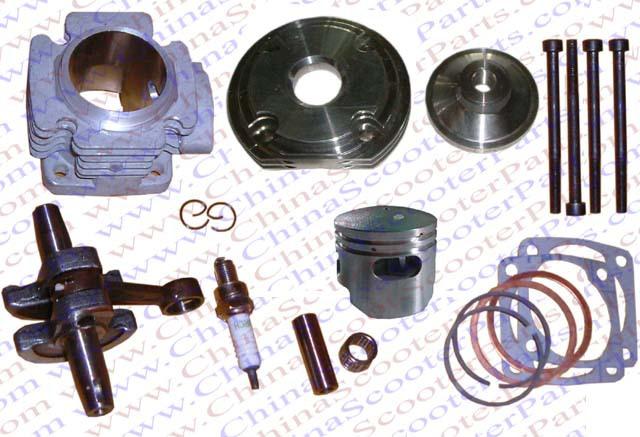 Performance Cylinder Head Piston Ring Crankshaft Kit (Big Bore Kit) for 47CC 49CC Mini Dirt Pit Bike Parts<br><br>Aliexpress