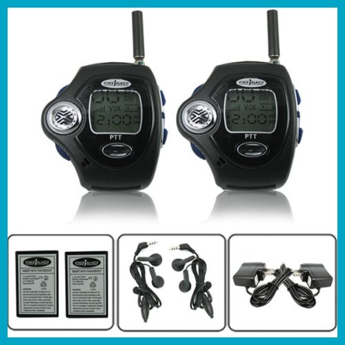 Travel Wrist Radio Walkie Talkie Watch Backlit Pair LCD Intercom Digital Mobile Two Way Radio ,Dual Band Interphone Transceiver(China (Mainland))