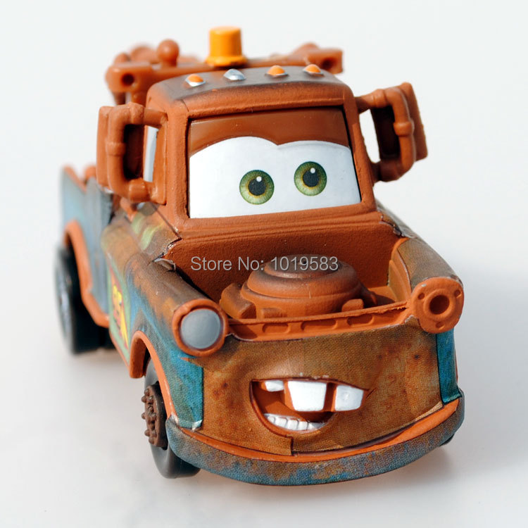 100% Brand New Original 1/55 Scale Pixar Cars 2 Toys Race Team Tow Mater Truck Diecast Metal Car Toy For Children Loose(China (Mainland))