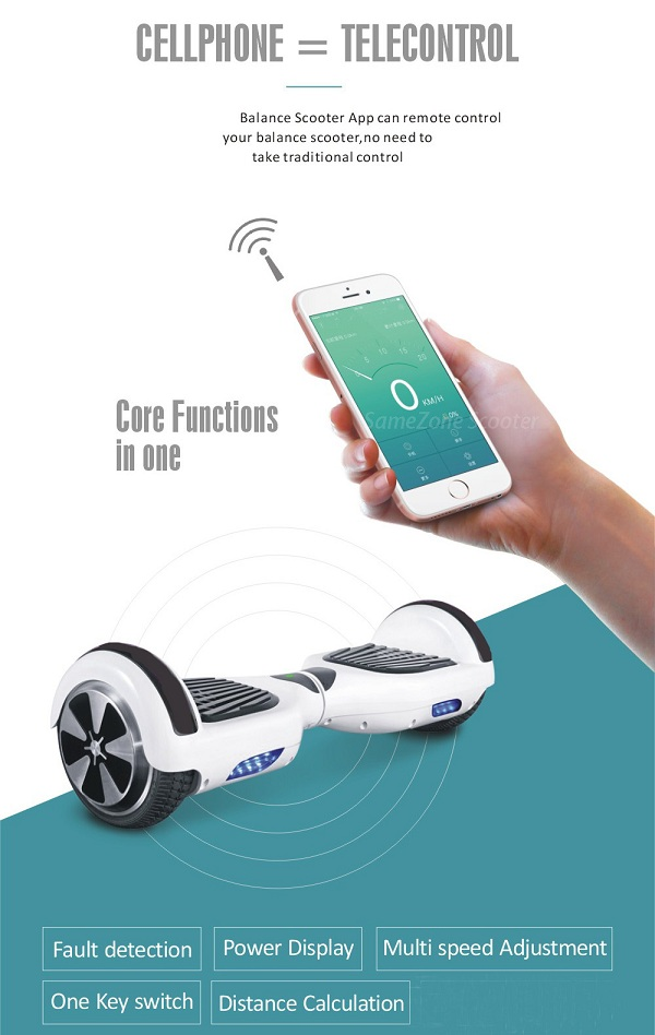chrome hoverboard self balancing scooter 6.5 inches two wheels hover board china supplier app control giroskuter(China (Mainland))