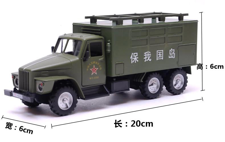 Military box-type truck Field Army back car alloy model children's toy car army children's educational toys(China (Mainland))