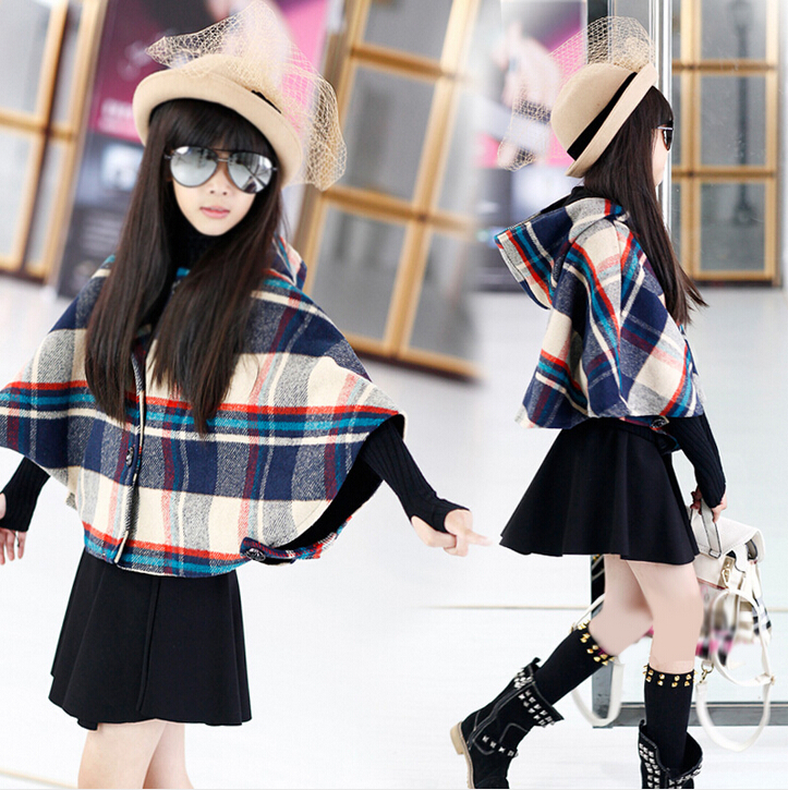 Скидки на Горячая! 2016 высокое качество новая зимняя хан издание девушка сетки в бархатной детей плащ с капюшоном ткань , чтобы держать теплое пальто